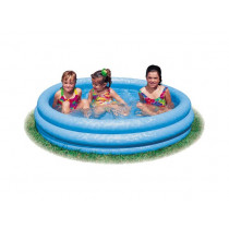 Intex průzračně modré bazén 114x25