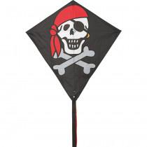 HQ Diamond Eddy Single Line Kite - Jolly Roger