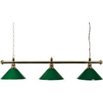 Mosazná lampa 3 odstíny 150 cm - zelená