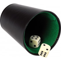 Buffalo pokercup kůže černá - 9 cm