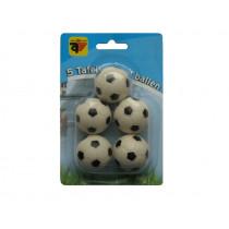 Tabulka fotbalové míče černá a bílá 5 ks