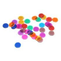 Bingo Chips Průhledná Barevný - 300 kusů