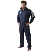Adidas Team Track trénink bunda - modrá / bílá