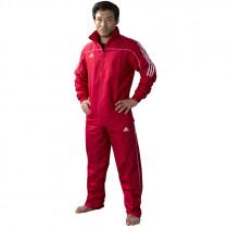 Adidas Team Track trénink bunda - červená / bílá