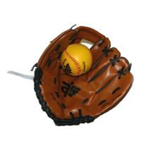 Brown baseballovou rukavici a míček